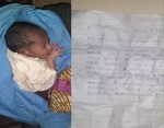 "Mother dumps her Newborn baby in Katsina State with a Note ""Pleading with whoever finds the child to take care of her."""