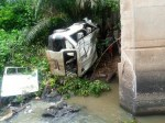 Newly wedded Man, 4 others confirmed dead as 18-seater bus plunges into river in Ondo State