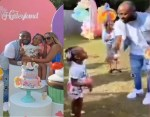 Moment Davido scolded his daughter, Hailey for twerking at her birthday Party (video)