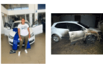 South African lady devastated as Unknown 'Jealous' Persons set her brand New Car on Fire Weeks After Showing it off on Facebook