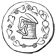 Serpent and Ark (from a Greek coin).
