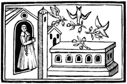 Pious Birds and Olives. From Maundevile's Travels.