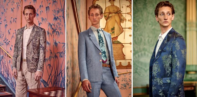 ポールスミス(PAUL SMITH)のスーツを着用する外国人男性