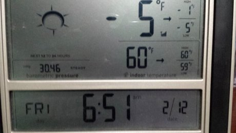 A bit cool outside this morning, but balmy inside.