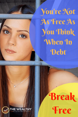Free yourself from the slavery of debt. End the burden and interest expense adding stress to your life. End debt. #enddebt #debtfree #nomoredebt #studentloans #paydayloans