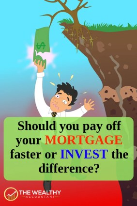 Should you pay off your mortgage early or invest the difference? Here are mortgage payoff tips to help you decide between investing and paying the mortgage off faster. #wealthyaccountant #mortgage #mortgagetips #mortgagepayofftips #creditscore #DaveRamsey