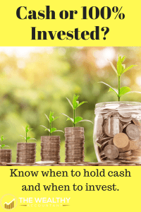 Cash is king! 100% invested all the time can hurt your investment return. Find the right balance between cash holdings and index fund investments.