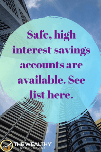 Safe, high yield savings accounts are available. Here is a list of secret accounts you want to consider. #secret #investments #bankrate #bank #interest #interestrate #savings #savingsaccounts #savingsrates