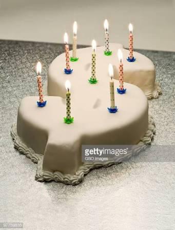 Dollar birthday cake