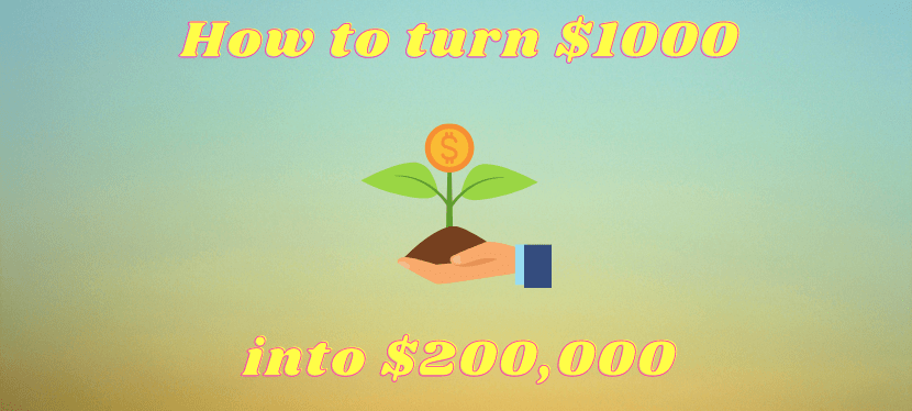 How To Turn $1000 Into $200,000