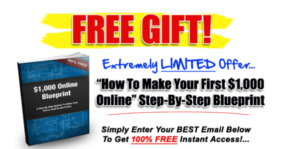 """Free Report shows a step-by-step blueprint on """"How to Make Your First $1,000 Online"""""""