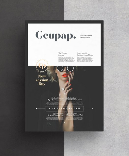 Adobe InDesign Magazine Template from AlfianBrand – AWorkstation.com