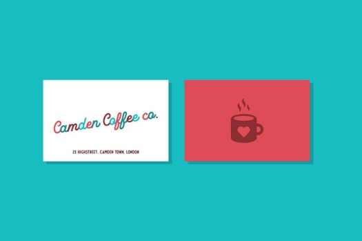 Coffee business cards.