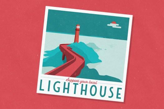 Lighthouse illustration.