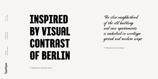 TT Berlinerins font duo from TypeType.