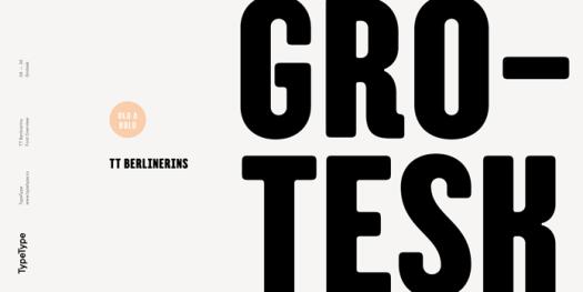 TT Berlinerins Grotesk typeface.
