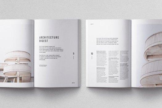 Moscovita magazine template, print ready, CMYK, 300 dpi, bleed.