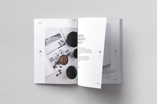 Moscovita print template, fully editable in Adobe InDesign.