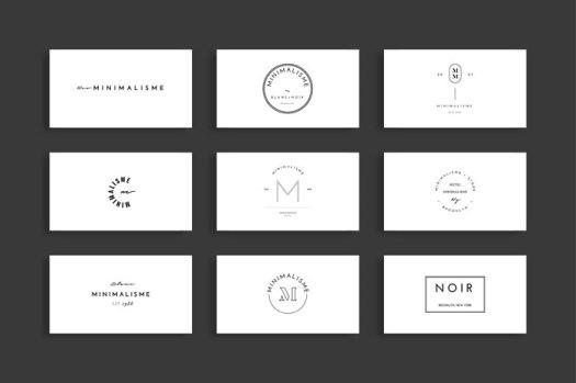 Modern and minimalist logo templates.