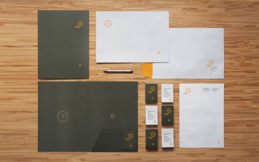 Brand materials and stationery system.