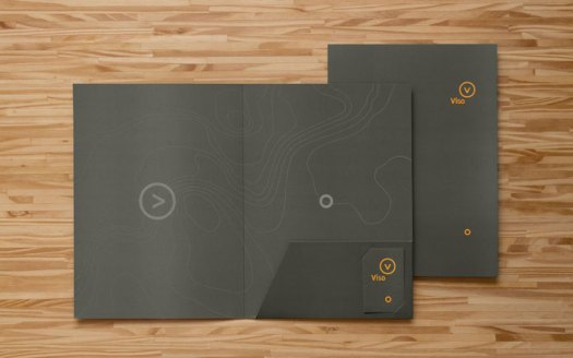 Folder with business cards.