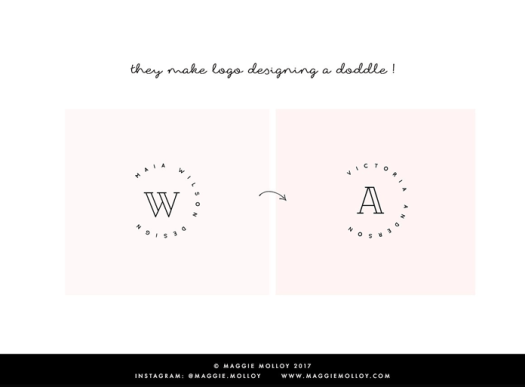 They make designing logos a doddle.