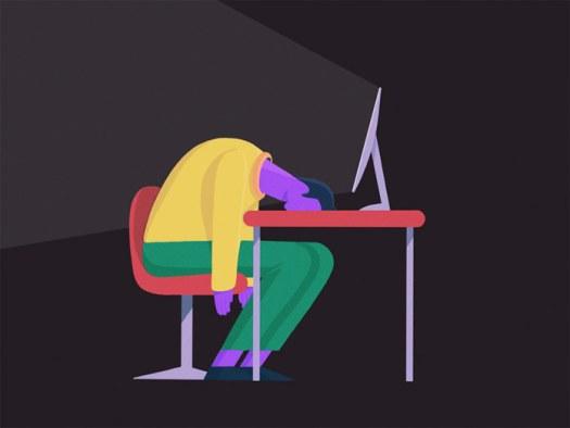 Mantas Grauzinis illustration, Monday mood