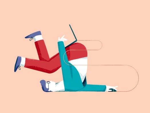 Mantas Grauzinis illustration, working hard