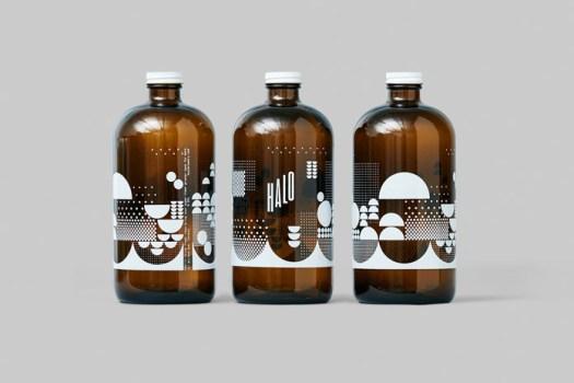 Bottles with uni-color designs.