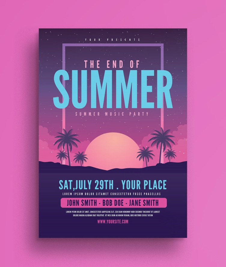 End of Summer Party Flyer Template