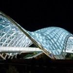 Ночная иллюминация моста Мира
