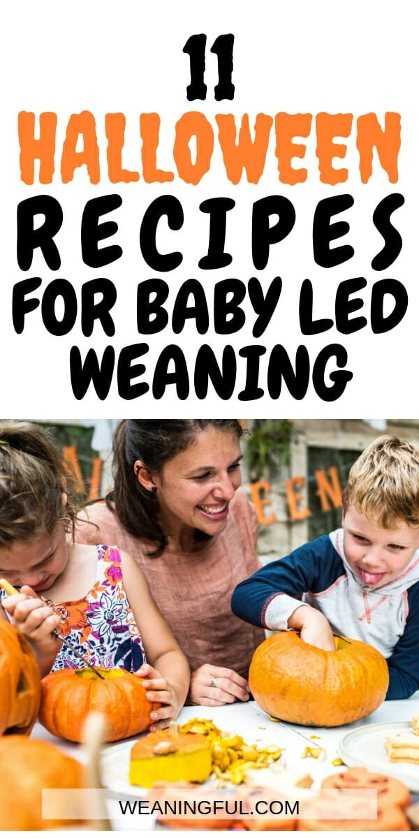 These Halloween recipes are geat for baby led weaning . They're packed with flavour and tasty, perfect for finger foods and first foods.