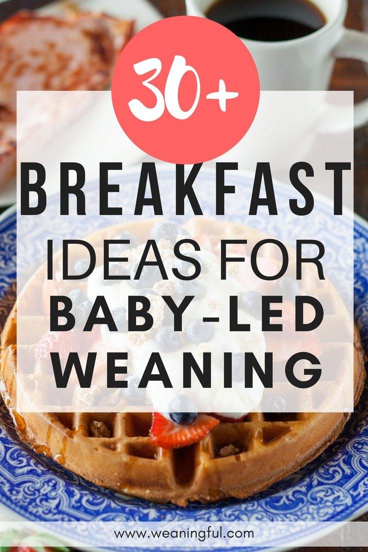 30+ baby led weaning breakfast recipes - weaningful