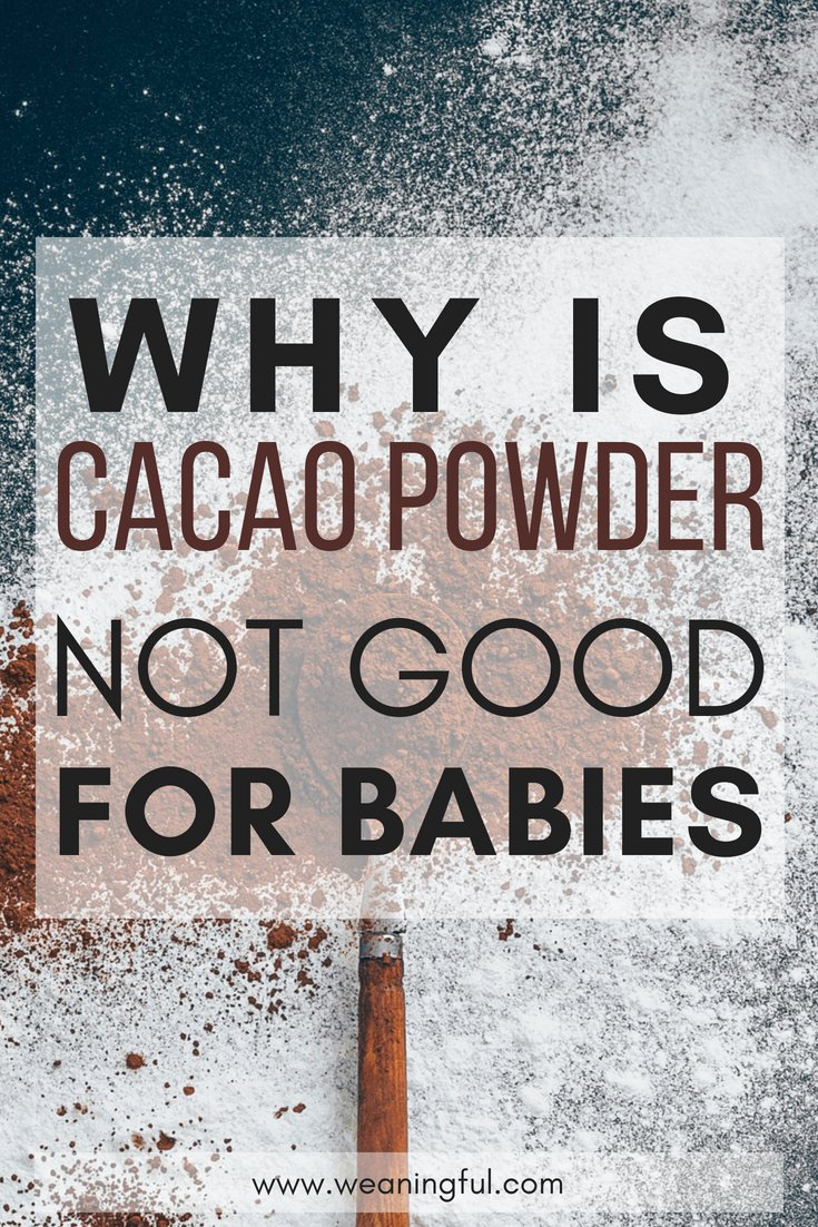 cacao powder and starting solids - introducing solids at 6 months, finger foods and first foods shouldn't contain this ingredient - see why cacao powder is not recommended in baby led weaning recipes and meals or even toddler foods