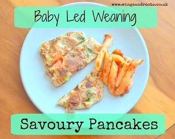 savoury baby led weaning pancakes recipe great for baby led weaning