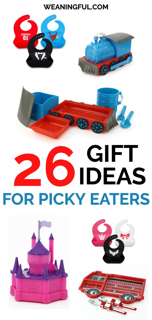 If you have a picky eater in the house and look for tips on how to make him eat, then this children's gift guide is perfect for you. End picky eating by bringing fun to the table every time. #babyledweaning #blw #giftguide