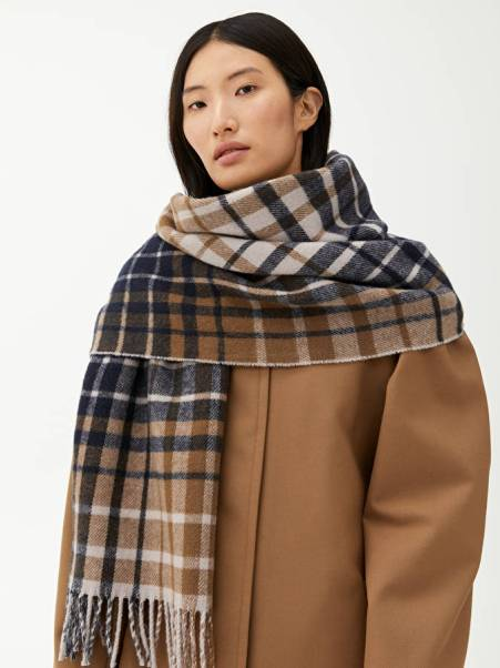 Checked wool scarf Arket