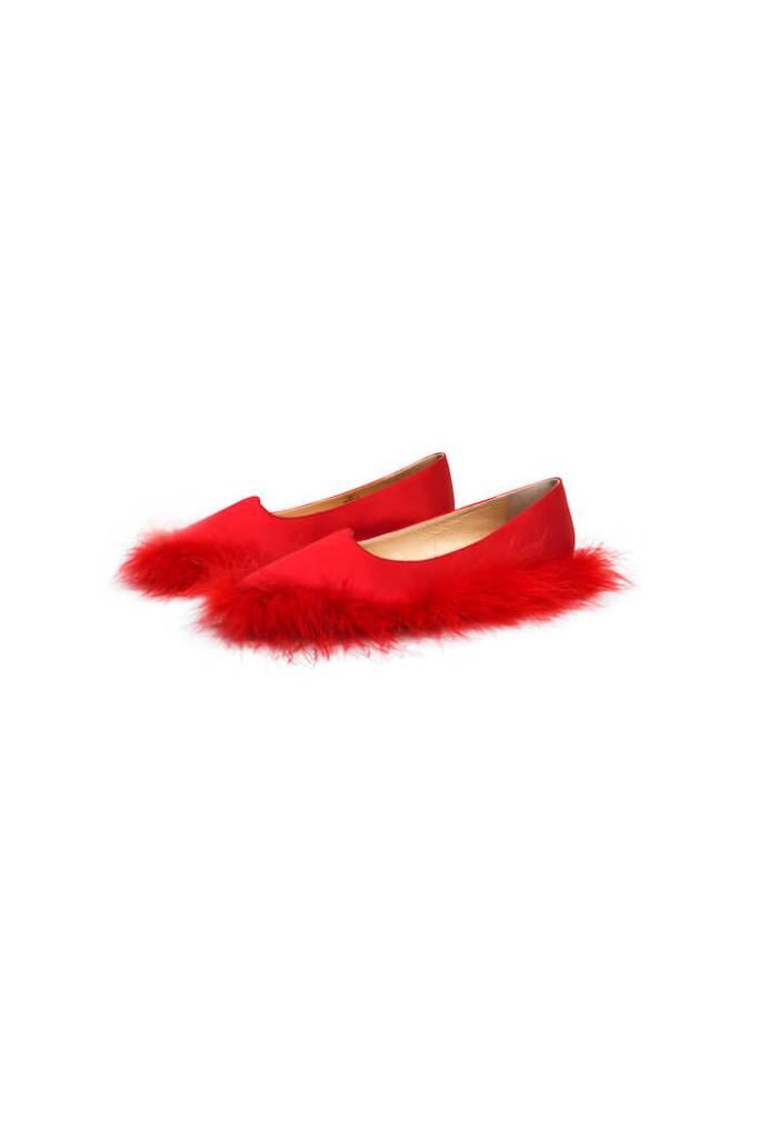 Pointed ballet pumps £139.99 simone rocha h&m