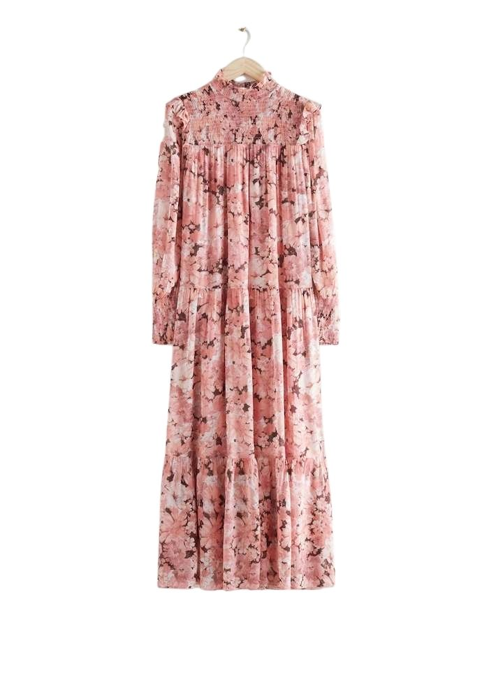 Smocked Maxi Dress & other stories