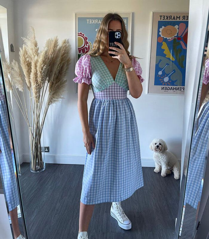 Molby the Lable Gingham Tilda Dress in Pastel