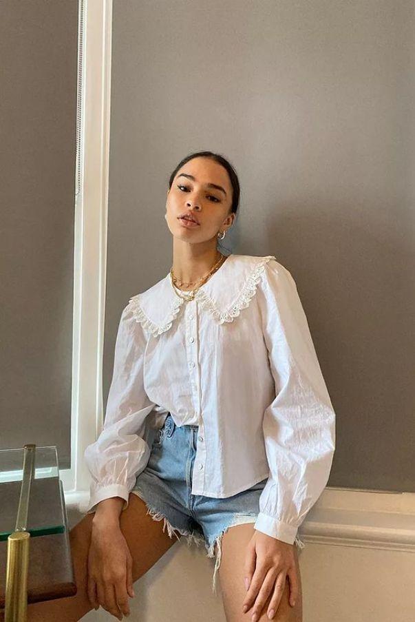Stella Prairie Collar Blouse, £44, Urban Outfitters
