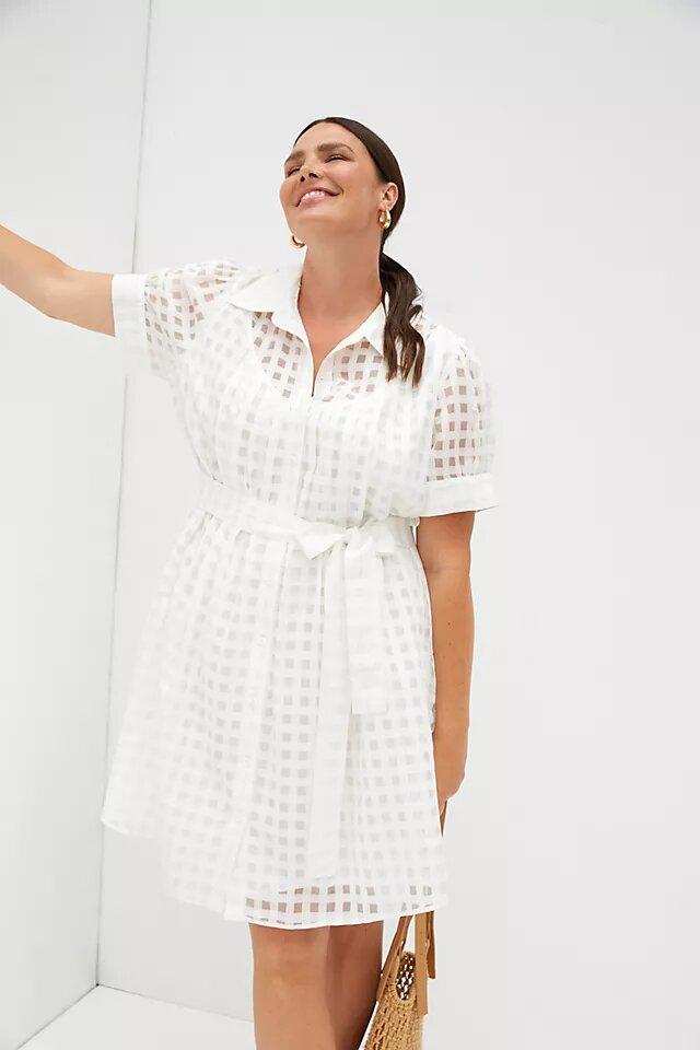Gingham Mini Dress anthropologie