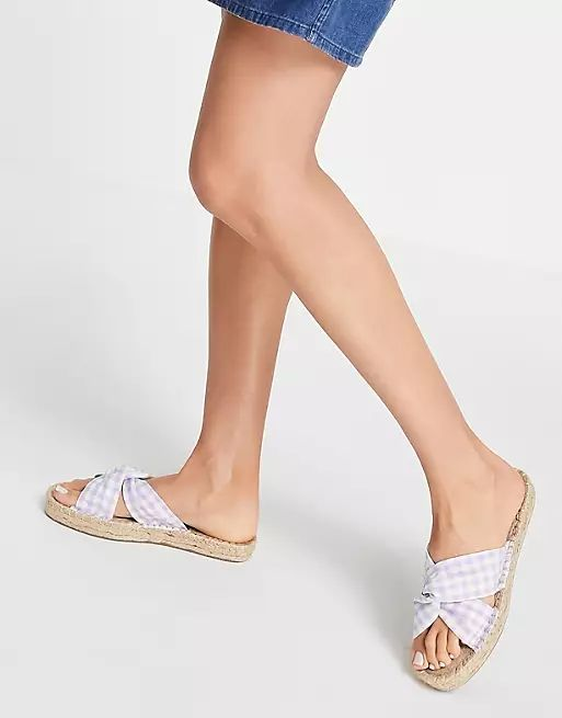 Wide Fit Jolly Knotted Mule Espadrille asos