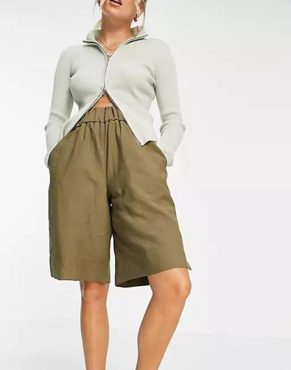 Elastic Back Bermuda Shorts, £32.99, Topshop at ASOS