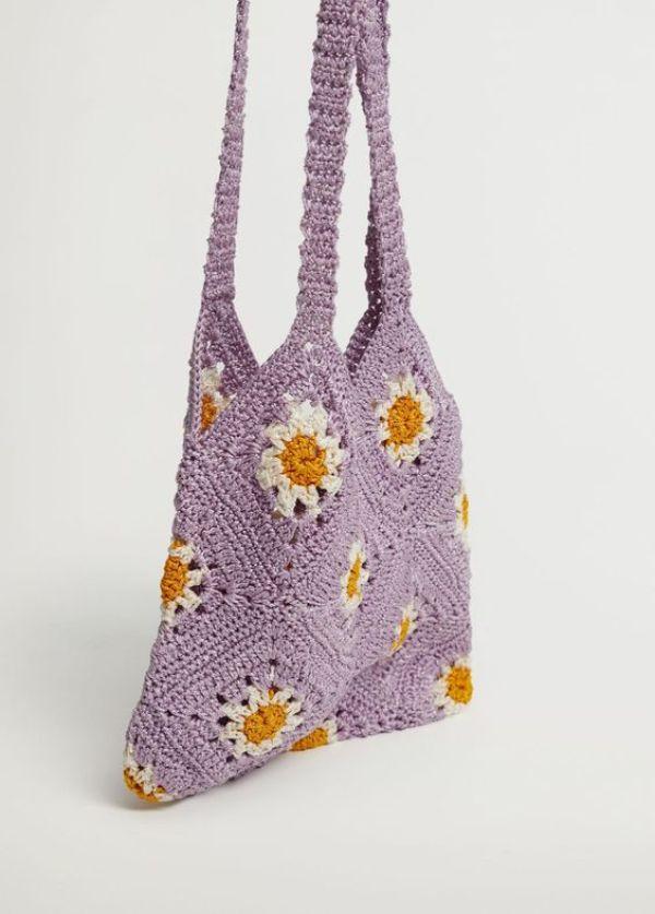 Mango Floral Crochet Bag