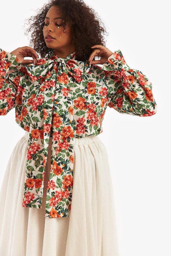 Celia Floral Cotton Shirt Loud Bodies
