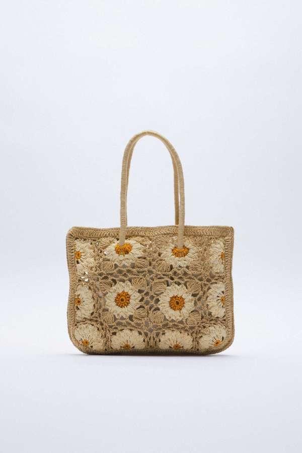 Crochet Bucket Bag Zara