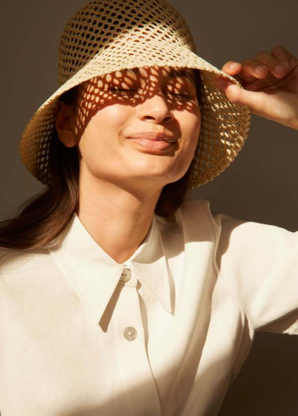 & Other Stories Woven Straw Bucket Hat