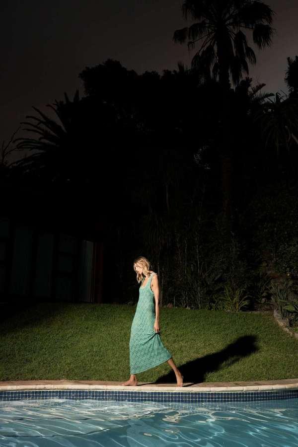 Zara Long Crochet Dress