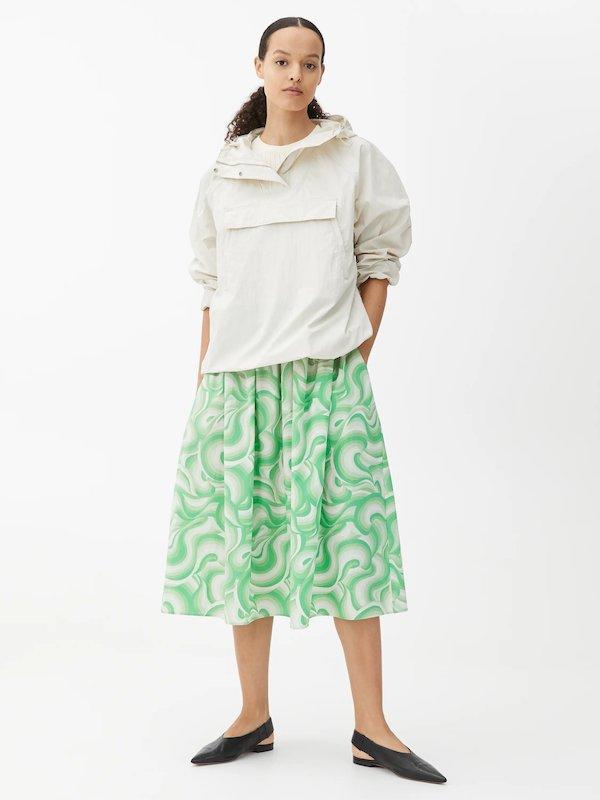 Arket Wide Cotton Skirt